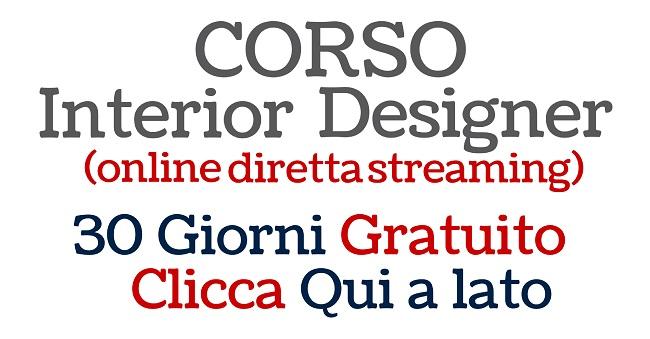 Corso architettura d 39 interni arredamento 30 gg di corso for Designer di garage online gratuito